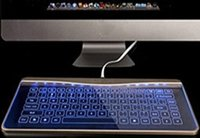 aluminium glass windows - Transparent Glass Touch Smart Keyboard Touch Keyboard Aluminium Glass keyboard for Apple Mac OSX Windows PC Computer Pad