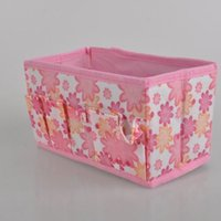 beauty floral fabric - Multifunction Beauty Flower NEW Folding Makeup Cosmetics floral Storage Box Organizer pieces