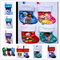 Wholesale high quality frozen Christmas stockings STAR WAR Xmas gift bags star wars Elsa Olaf christmas stockings