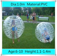 Cheap Dia 1.0m PVC Inflatable Bubble Soccer Football Ball for Children,Zorb Ball, inflatable human hamster ball, Bumper Ball for Kids
