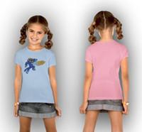 Wholesale Girls T shirt Big Hero Girls T shirt Kids Big Hero Character Printing and Short Sleeve T shirt