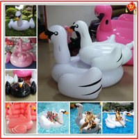 flamingo - Fedex freeshipping inch m Giant Inflatable Flamingos For Pool Inflatable Swan Water Float Inflatable Swim Ring
