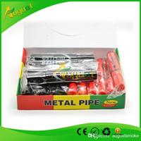 Wholesale hi liter pipe marker pen stash smoking metal pipe sneak a toke click n vape