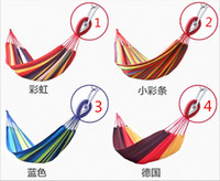 Cheap Best quality Only Colorful Cheap new Single Double camping hammock swing outdoor upset canvas hammock indoor recreational crane qwased