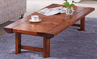 antique dinning table - Japanese Antique Low Table Rectangle cm Folding Legs Asian Furniture Traditional Living Room Solid Wood Table For Dinning