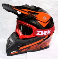 motocross gear - 2015 Newest DOT Motorcycle Off Road Capacete KTM Motocross Helmet Motor Casco Protective Gear Matched CE Red MX Goggles