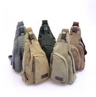 Wholesale boys Fishing Camping Outdoor travel bag mens cross body Single Shoulder Bag mens canvas bags triangle men s bags