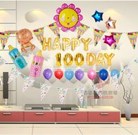 Wholesale Baby hundred one hundred days birthday balloons party birthday party packages for children and young children decorated and furnished rooms