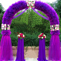 arch tables - Wedding Arch Wedding Decorations Props Way Garden Quin m m Eanera Party Flowers Balloon Decoration White Metal Spend Circular Arch Doo