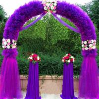 balloon wedding arches - Wedding Arch Wedding Decorations Props Way Garden Quin m m Eanera Party Flowers Balloon Decoration White Metal Spend Circular Arch Doo