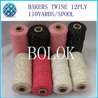 bakers metal - 50pcs add all kinds metallic Cotton Baker twine for gift packing kinds color gold twine metal spool