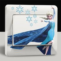 hello kitty stickers - 2014 Christmas Frozen Elsa Anna HELLO KITTY wall stickers switch stickers switch decoration film doodle more designs for choosing H0028