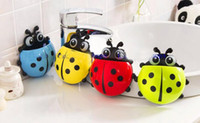 Wholesale drop shipping new creative cute ladybug toothbrush holder toothpaste holder combination package novelty households sucker Sheif