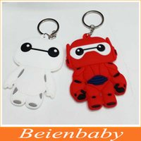 rubber keychain - 200pcs cm Rubber Hero Baymax keychain toy Big Hero figure keychain styles for choosing