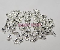 lobster claw - NEW Rhodium Plated DIY Jewelry Findings mm Lobster Trigger Claw Clasps Hooks Hot Charm Connector Fit Jewelry Making