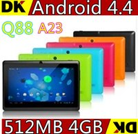 low price android tablet - 4PCS High quality low price Inch Android Tablet PC Q88 Allwinner A23 Android Dual Core Dual Camera WIFI OTG