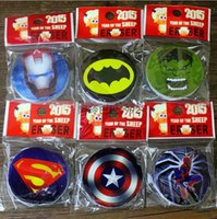Wholesale 2015 New Hero Alliance Superman Batman Captain America Spiderman Erasers Students Children Learning Stationery Child s Gift