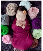 photography - newborn stretch knit wrap baby photography props Solid Wrap colors choice hot sale