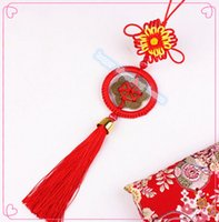 antique curtain rings - 2pcs China Spring festive decorations Chinese knot pendant ring China antique coins with small money