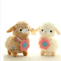 baby birthday activities - plush toy animal hold card Alpaca birthday wedding gifts activities baby toy