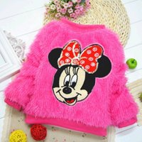 Girl Winter Standard Lovely Baby Girls Minnie Mouse Pullover Coat Winter Warm Sweater Outerwear DH04