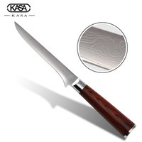 best boning knife - KASA brand damascus kitchen knives with red handle inch boning knife damascus Cr18Mov stainless steel cooking tools best gift