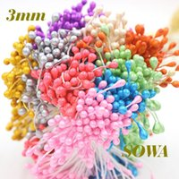 artificial sugar - mm Double Heads DIY pearl flower stamen Artificial Sugar Craft Millinery Cake for selection