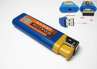 Wholesale Super Q8 Blue Mini HD DVR Lighter Pinhole Camera NEW Spy Hidden USB Mini DV Lighter DVR Camera Video Recorder Cam Camcorder