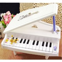 Wholesale 14 Keys White High Simulation Portfolio Folded Learning Machine Toys Small and Cute Change Color Piano for Baby Children Kids