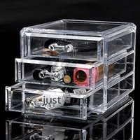 acrylic display box - Clear Acrylic Beauty Box Jewelry Storage Cosmetic Case Makeup Display Layers