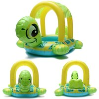 Cheap Newest 1pcs Environmental Tortoise Shape Kids Baby Inflatable Pool Float Seat Boat Water Swim Ring Summer For Children