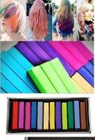 Wholesale Easy Temporary Colors Non toxic Hair Chalk Dye Soft Hair Pastels Kit Chalk Pastel Stick Vermicelli Chalk DIY Your Hair Set A2