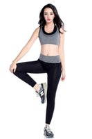 Wholesale Women Sports Yoga Pants Elastic Compression Tights Fitness Women Running Trousers Gym Dry Quick Leggings sport Gym yoga pants