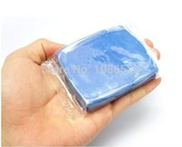 Cheap wholesale New Blue Practical Magic Car Clean Clay Bar Auto Detailing Cleaner Cleaning Kit Free Shipping 100pcs lot w08