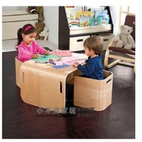 Wholesale Children s tables and chairs Solid wood furniture learning game table Security desk chair