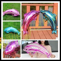 animal house setting - 36 inch dolphin inflatable aluminum balloons birthday party wedding decoration Christmas decoration foil balloon new