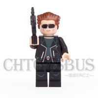 arnold schwarzenegger terminator - The Terminator T Arnold Schwarzenegger Super Heroes DIY Minifigures Assemble DIY MODEL Building Blocks Kids Toys Gift