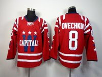 Wholesale 2015 Winter Classic Capitals OVECHKIN Hockey Jerseys Red Mens Sports Jerseys Cheap Sports Shirts Players Uniforms High Quality Jerseys