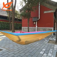 Wholesale 2016 New kgs x180cm Double Person Travel Camping Outdoor Nylon Fabric Hammock Parachute Bed For Adventure
