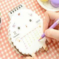 animal print calendar - 2015 New Arrival Cute Cartoon Animal Sheep Printing Calendar Small Table Calendar Happy New Year