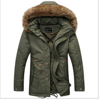 Wholesale Winter Casual Canada Mens fur collar coat army green outwear coats military man jacket ropa hombre winter jacket men Parka Coats