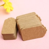 Wholesale 100 Kraft Paper Hot DIY Vintage Message Party Wedding Decoration Blank Gift Label Mini Craft Cards Sand Color