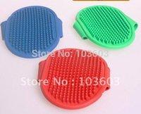 beauty rubber product - Oval pet beauty bathing massage bath brush dog comfortable rubber intrafamilial transmission brush
