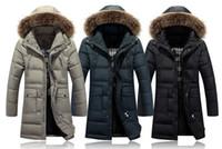Wholesale 2015 New mens Down Parkas Extremely Thick Winter Coat Long Parkas Men Cotton Outwear Parka winter Male Brand Fur Jacket
