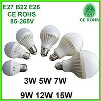 Wholesale Cree Led Global Bulb W W W W W W High Quality LED Bulbs Energy Saving E27 B22 E26 V Light Discount Replacement Lamp lighting