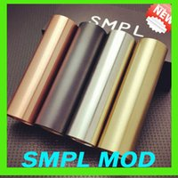 Acheter Noir manhattan-SMPL Mod complète Mod mécanique avec 510 fil batterie 18650 Copper Noir SS Brass Fit e cig RDA RBA VS Apollo Manhattan mod