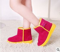 Wholesale Candy Color Children Hasp Snow Boots Winter Short Warm Boots pairs Cheap Price include Shipping cost
