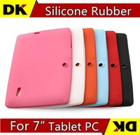 Cheap SGpost Colorful Q88 Silicone Rubber Back Case for 7 inch Q8 Allwinner A13 A23 ATM7021a Android Tablet PC Freeshipping