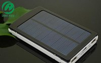 battery charge capacity - High Capacity mah Solar Charger and Battery mAh SolarCharger Panel Dual Charging Ports portable power bank for Cell phone MP3 MP4