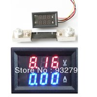 Wholesale 2 IN Super mini Digital A V Amp Volt Meter tester ammeter VoltMeter tester shunt A Resolution A V order lt no track